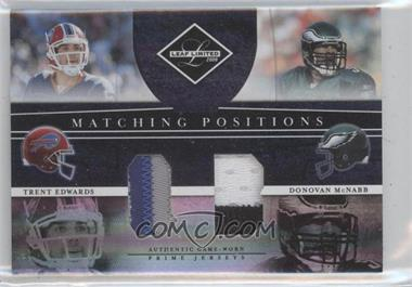 2008 Leaf Limited Matching Positions Prime #MP-1 - Donovan McNabb, Trent Edwards /25