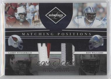 2008 Leaf Limited Matching Positions Prime #MP-6 - Roy Williams, Larry Fitzgerald /25