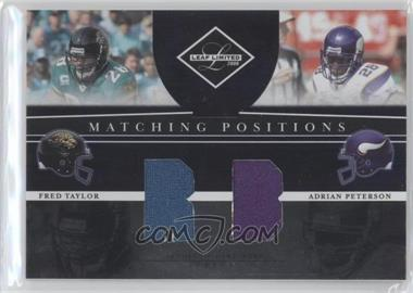 2008 Leaf Limited Matching Positions #MP-11 - Adrian Peterson, Fred Taylor /100