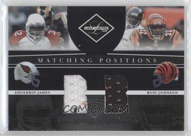 2008 Leaf Limited Matching Positions #MP-13 - Edgerrin James, Rudi Johnson /100