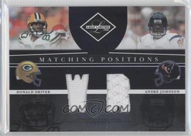 2008 Leaf Limited Matching Positions #MP-15 - Donald Driver, Andre Johnson /100