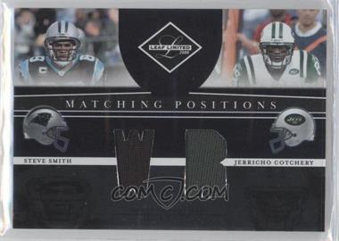 2008 Leaf Limited Matching Positions #MP-20 - Steve Smith, Jerricho Cotchery /100