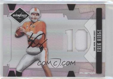 2008 Leaf Limited Phenoms College Die-Cut Jersey Number Material Autograph [Autographed] [Memorabilia] #233 - Erik Ainge /50
