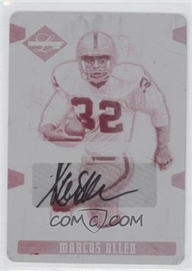 2008 Leaf Limited Printing Plate Magenta Autograph #160 - Marcus Allen /1