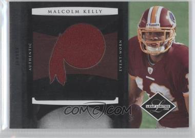 2008 Leaf Limited Rookie Jumbo Jerseys Team Logo Die-Cut #14 - Malcolm Kelly /50