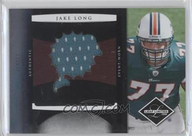 2008 Leaf Limited Rookie Jumbo Jerseys Team Logo Die-Cut #15 - Jake Long /50
