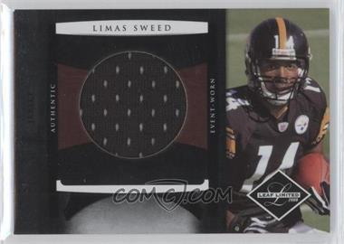 2008 Leaf Limited Rookie Jumbo Jerseys Team Logo Die-Cut #20 - Limas Sweed /50