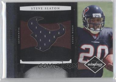 2008 Leaf Limited Rookie Jumbo Jerseys Team Logo Die-Cut #3 - Steve Slaton /50