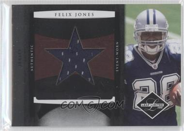 2008 Leaf Limited Rookie Jumbo Jerseys Team Logo Die-Cut #6 - Felix Jones /50