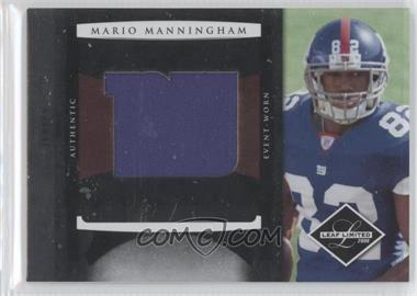 2008 Leaf Limited Rookie Jumbo Jerseys Team Logo #19 - Mario Manningham /50