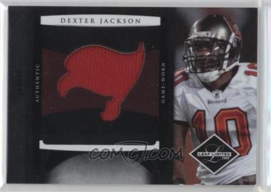 2008 Leaf Limited Rookie Jumbo Jerseys Team Logo #25 - Dexter Jackson /50