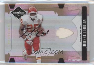 2008 Leaf Limited Spotlight Gold #318 - Jamaal Charles /25