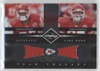 Larry Johnson, Tony Gonzalez /100