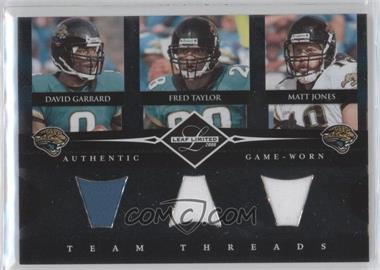 2008 Leaf Limited Team Threads Triples #TTT-1 - David Garrard, Matt Jones, Fred Taylor /100