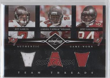 "2008 Leaf Limited Team Threads Triples #TTT-2 - Jeff Garcia, Joey Galloway, Carnell ""Cadillac"" Williams /100"