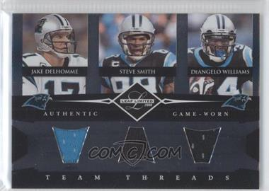 2008 Leaf Limited Team Threads Triples #TTT-3 - Steve Smith, DeAngelo Williams, Jake Delhomme /100