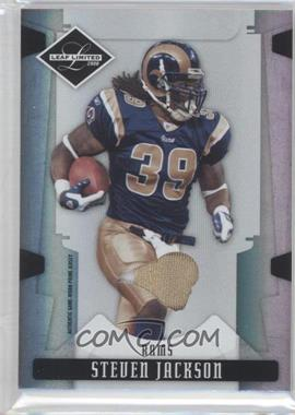 2008 Leaf Limited Threads Team Logo Prime [Memorabilia] #90 - Steven Jackson /25