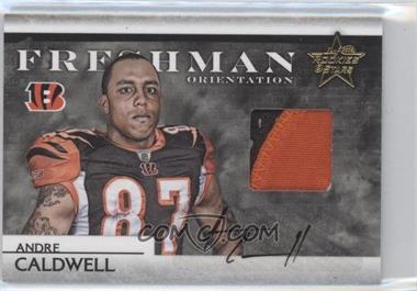 2008 Leaf Rookies & Stars Freshman Orientation Materials Jerseys Prime Signatures [Autographed] #FO-25 - Andre Caldwell /10