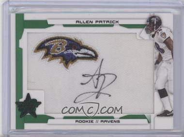 2008 Leaf Rookies & Stars SP Rookies Emerald Patch Signatures [Autographed] #201 - Allen Patrick /5