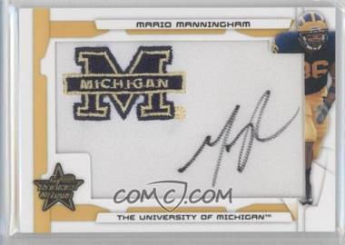 2008 Leaf Rookies & Stars SP Rookies Gold College Patch Signatures [Autographed] #242 - Mario Manningham /10