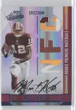 2008 Playoff Absolute Memorabilia - [Base] - Rookie Premiere Materials Spectrum Die-Cut AFC/NFC Prime Signatures [Memorabilia] #268 - Malcolm Kelly /10
