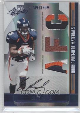 2008 Playoff Absolute Memorabilia - [Base] - Rookie Premiere Materials Spectrum Die-Cut AFC/NFC Prime Signatures [Memorabilia] #277 - Eddie Royal /10