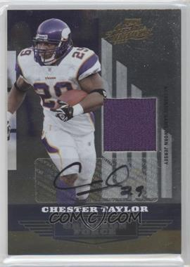 2008 Playoff Absolute Memorabilia Gridiron Force Materials Signatures [Autographed] [Memorabilia] #GF-19 - Chester Taylor /25