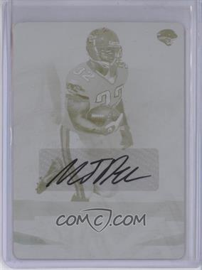 2008 Playoff Absolute Memorabilia Printing Plate Yellow #71 - Maurice Jones-Drew /1