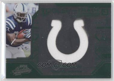 2008 Playoff Absolute Memorabilia Tools of the Trade Jumbo Green Die-Cut Team Logo Materials [Memorabilia] #TOTT27 - Reggie Wayne /10