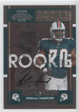 2008 Playoff Contenders - [Base] #210 - Kendall Langford