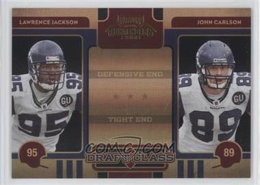 2008 Playoff Contenders - Draft Class - Black #30 - John Carlson, Lawrence Jackson /50