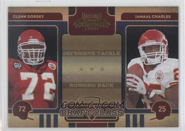 2008 Playoff Contenders Draft Class Black #19 - Glenn Dorsey, Jamaal Charles /50