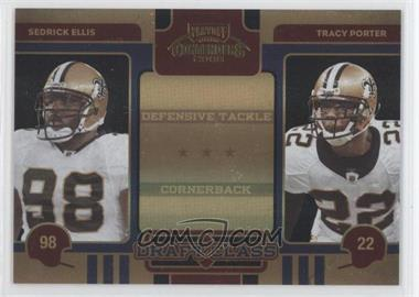 2008 Playoff Contenders Draft Class Black #23 - Sedrick Ellis, Tracy Porter /50