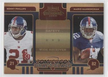 2008 Playoff Contenders Draft Class Black #24 - Mario Manningham, Kenny Phillips /50