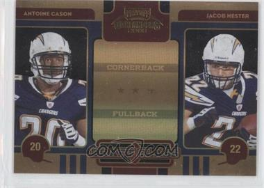 2008 Playoff Contenders Draft Class Black #28 - Antoine Cason, Jacob Hester /50
