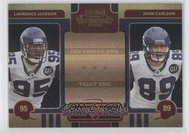 2008 Playoff Contenders Draft Class Black #30 - John Carlson, Lawrence Jackson /50