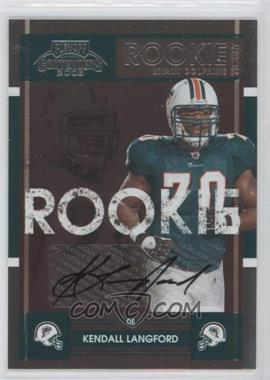 2008 Playoff Contenders #210 - Kendall Langford