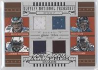Brian Westbrook, Fred Taylor, LaDainian Tomlinson, Willie Parker /25