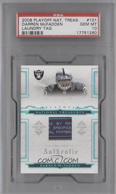 2008 Playoff National Treasures [???] #101 - Darren McFadden /10 [PSA 10]