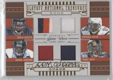 2008 Playoff National Treasures All Pros Quads Prime #9 - Antonio Gates, Torry Holt /25