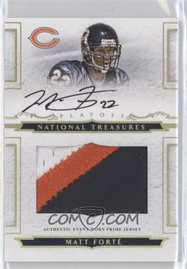 2008 Playoff National Treasures Rookie Jumbo Gold Materials Prime Signatures [Autographed] [Memorabilia] #106 - Matt Forte /25