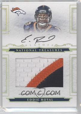 2008 Playoff National Treasures Rookie Jumbo Gold Materials Prime Signatures [Autographed] [Memorabilia] #122 - Eddie Royal /25