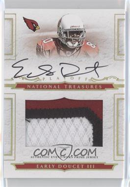 2008 Playoff National Treasures Rookie Jumbo Gold Materials Prime Signatures [Autographed] [Memorabilia] #129 - Early Doucet /25