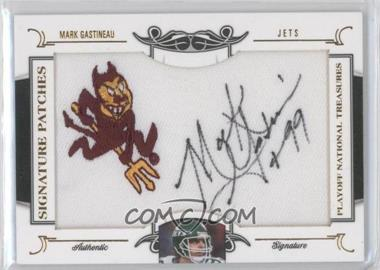 2008 Playoff National Treasures Signature Patches College Logo #101 - Mark Gastineau /26