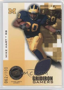 2008 Press Pass - Gridiron Gamers - Gold #GG-MH - Mike Hart /100