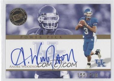 2008 Press Pass - Power Pick Autographs #PP-AW - Andre Woodson /218