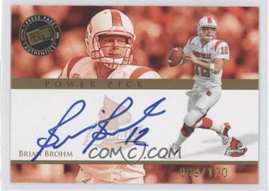 2008 Press Pass - Power Pick Autographs #PP-BB - Brian Brohm /100