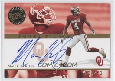 2008 Press Pass - Power Pick Autographs #PP-MK - Malcolm Kelly /250
