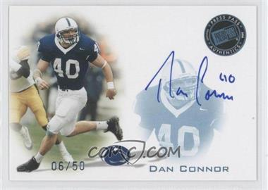 2008 Press Pass - Signings - Blue #PPS-DC - Dan Connor /50