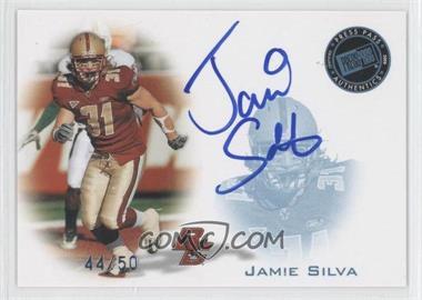 2008 Press Pass - Signings - Blue #PPS-JS2 - Jamie Silva /50